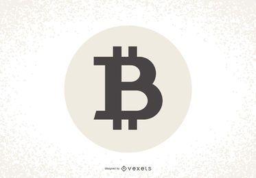 Diseño de etiqueta de logotipo de Bitcoin