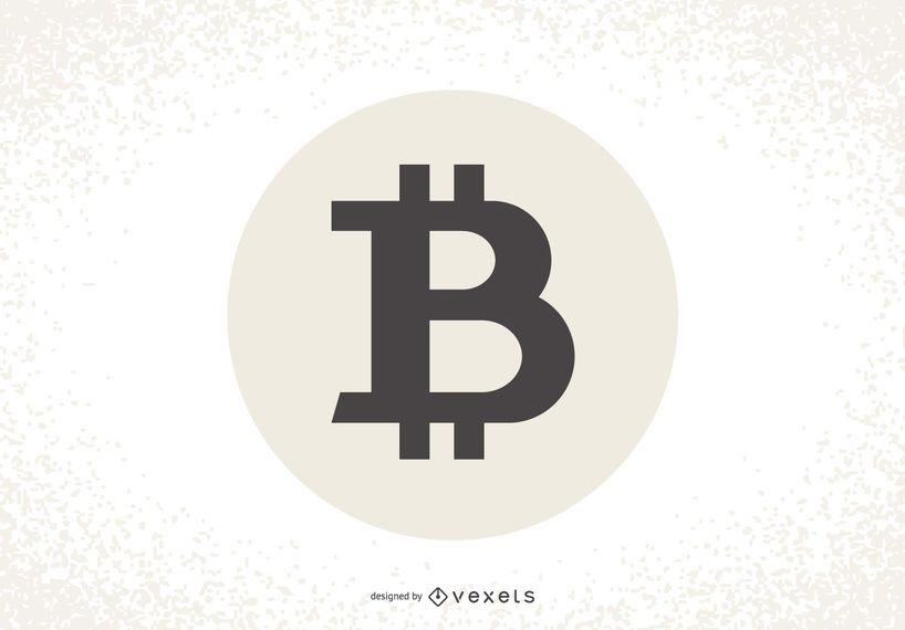 Bitcoin logo label design