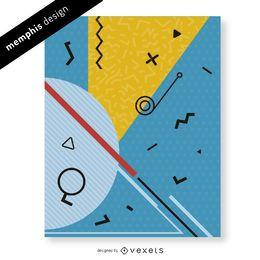 Memphis diseño con detalles abstractos