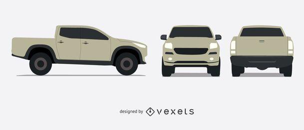 Set de camionetas ilustradas