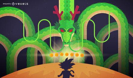 Ilustración artística de Dragon Ball