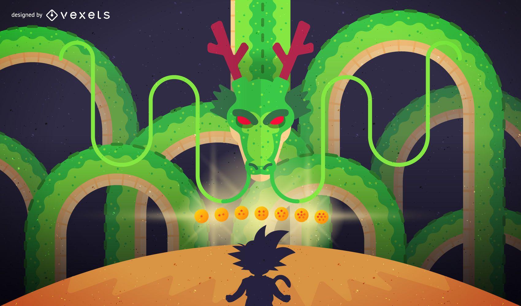 Dragon Ball artistic illustration