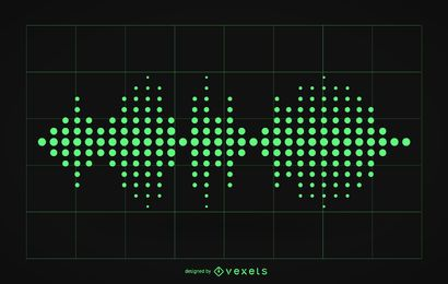 Audio sound waves illustration