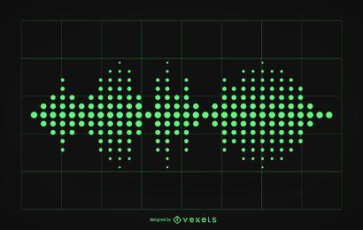Ilustração de ondas sonoras de áudio