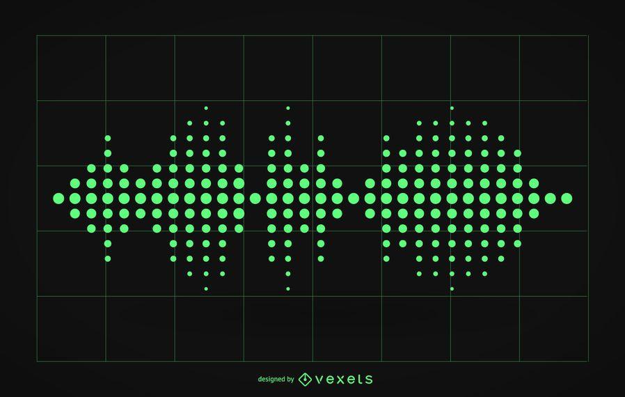 Audio sound waves illustration