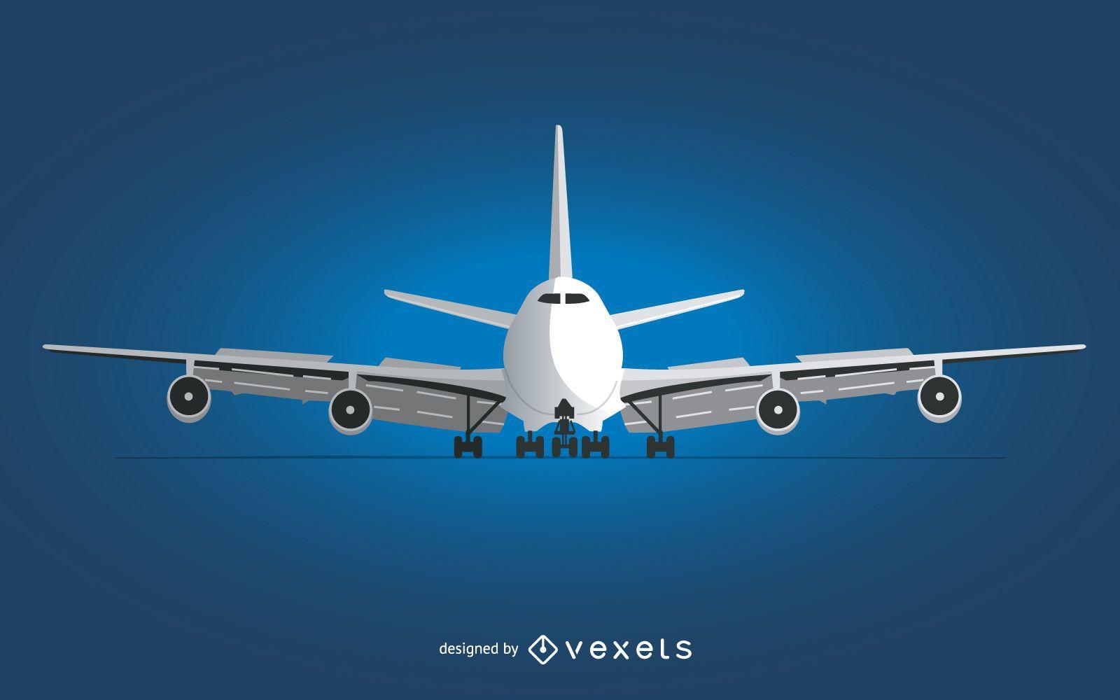 Plane front view illustration