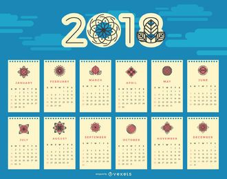 Calendário floral de 2018