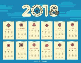 Calendario floral de 2018