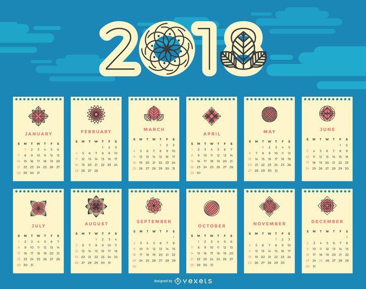Calendario floral 2018