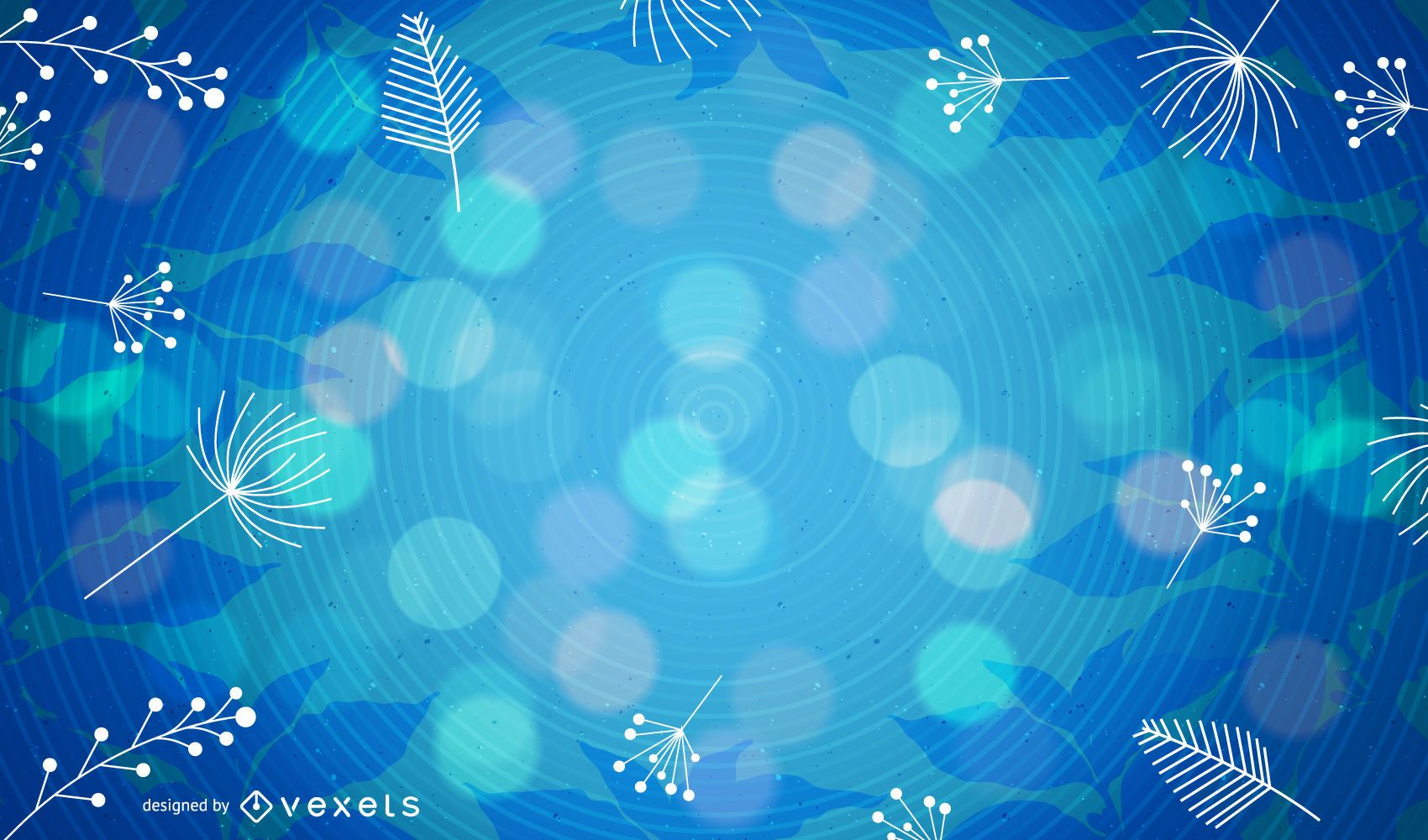 Water background with bokeh