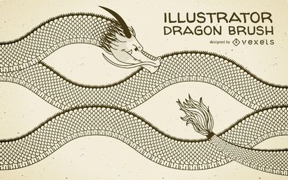 Drache Illustrator Pinsel