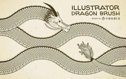 Pincel ilustrador dragón