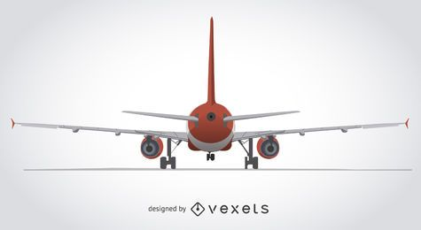 Detrás de una ilustración de avión