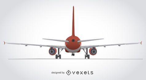 Parte traseira, de, um, avião, ilustração