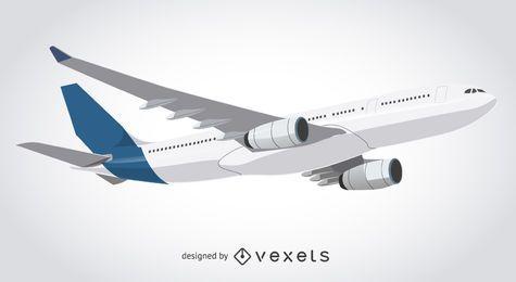 Ilustração de descolagem do avião