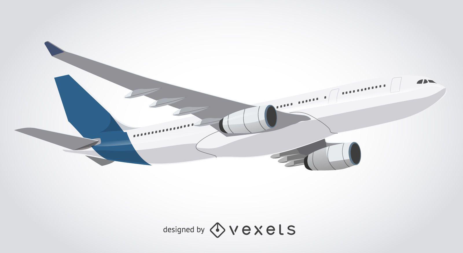 Airplane taking off illustration