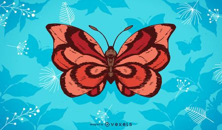 Butterfly illustration background