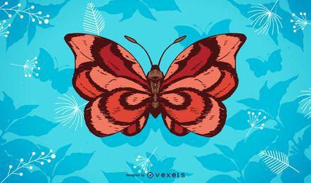 Fundo de ilustração de borboleta