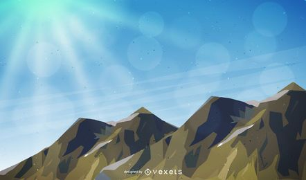 Ilustração da paisagem da montanha
