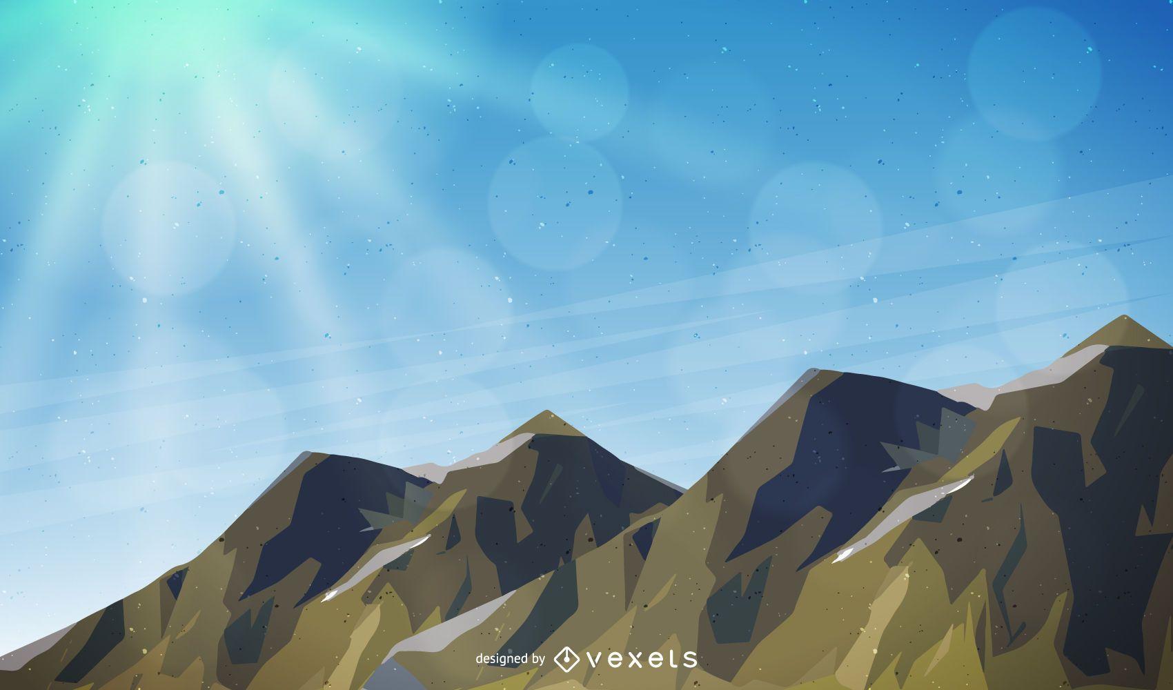 Ilustración de paisaje de montaña