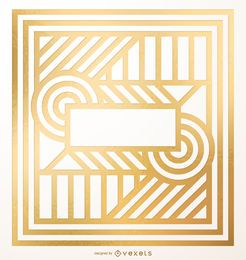 Abstract geometric golden design