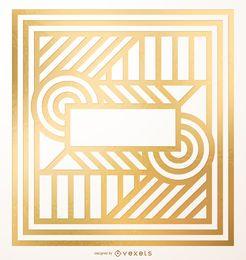 Diseño geométrico de oro abstracto