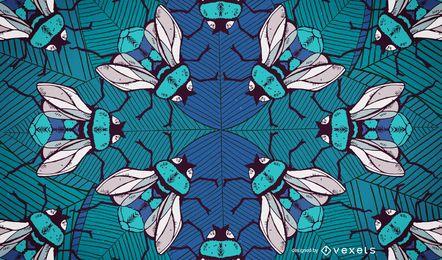 Diseño ilustrado de abejorros backgroun