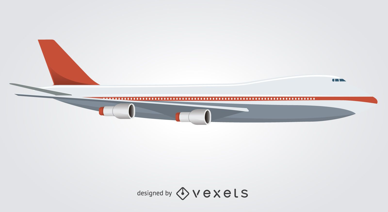 Flat isolated plane illustration