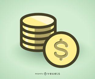 Monedas de oro icono
