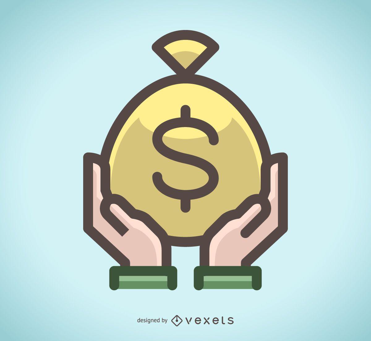 Icono de bolsa de dinero