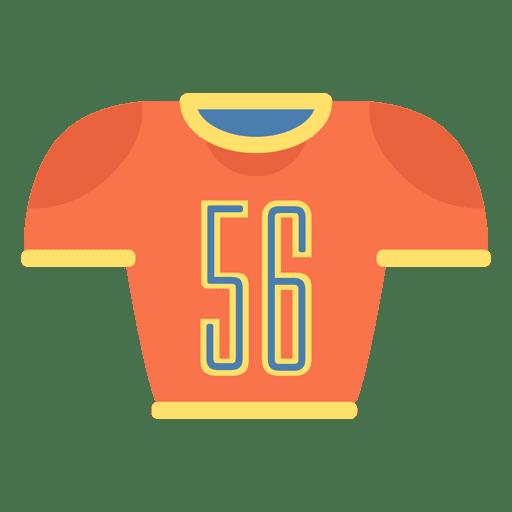 Ícone de camisa de futebol americano Transparent PNG