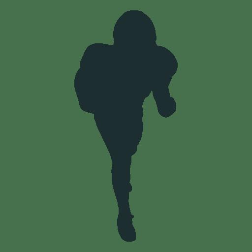 Jogador de futebol americano bloqueando a silhueta Transparent PNG