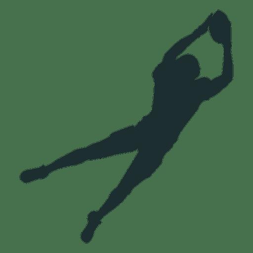Silhueta de captura de jogador de futebol americano Transparent PNG
