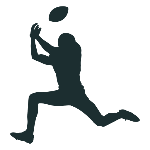 american football player catching silhouette png