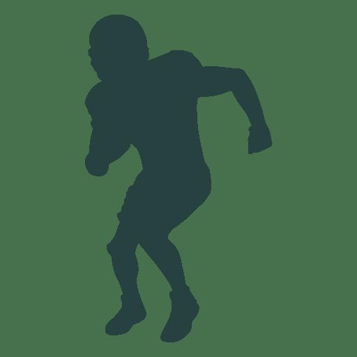 Silhueta de esquivar de jogador de futebol americano Transparent PNG