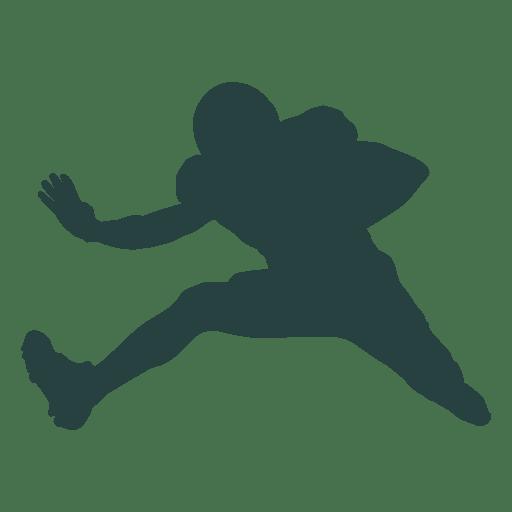 Silhueta de salto de jogador de futebol americano Transparent PNG