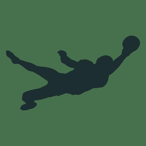 Silhueta de captura de mão de jogador de futebol americano Transparent PNG