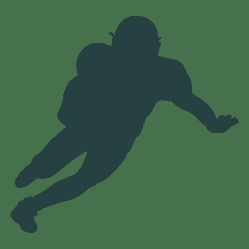 Jogador de futebol americano correndo silhueta Transparent PNG