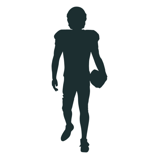 american football player walking silhouette png