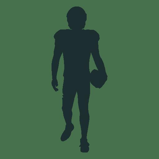 Silhueta de andar de jogador de futebol americano Transparent PNG