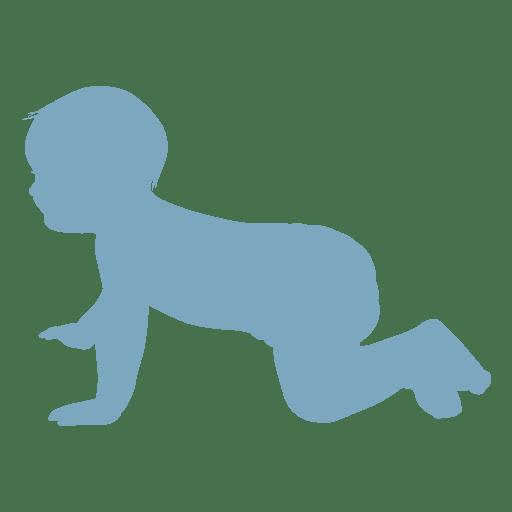 Beb? gateando silueta
