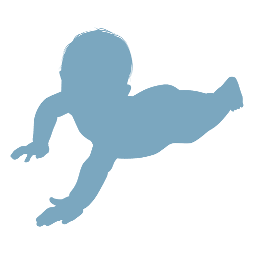 Baby lying silhouette baby silhouette Transparent PNG