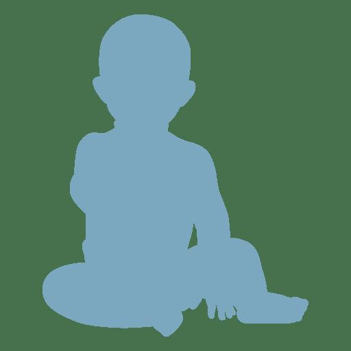Silhueta de bebê Transparent PNG