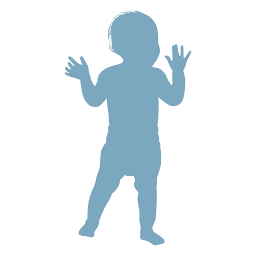 Baby standing silhouette Transparent PNG