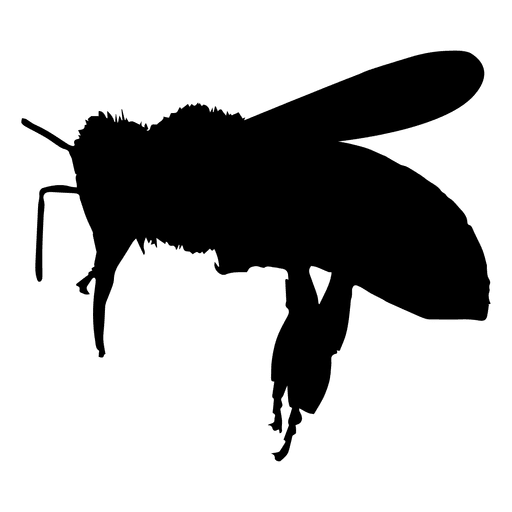 Bee flight silhouette Transparent PNG