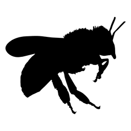 Silhueta voadora de abelha