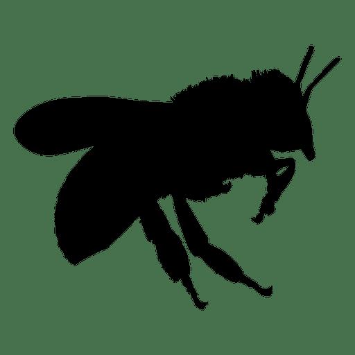 Abeja volando silueta Transparent PNG
