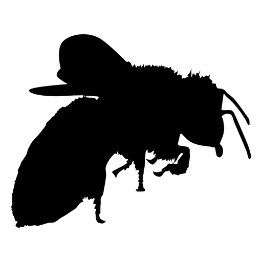 Bee polination silhouette Transparent PNG