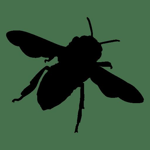 Silueta de abeja 03 Transparent PNG