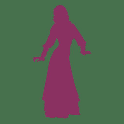 Belly dancer barrel turn silhouette Transparent PNG